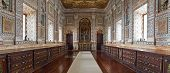 Lisbon, Portugal, September 15, 2013: Baroque Sacristy of the Sao Vicente de Fora Monastery with pin