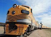 Streamlined Locomotive From A Bygone Era