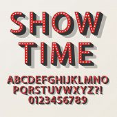 picture of broadway  - Retro Broadway Alphabet And Numbers - JPG
