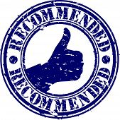 stock photo of recommendation  - Recommended grunge rubber stamp - JPG