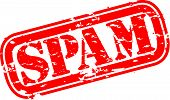 stock photo of spam  - Grunge spam rubber stamp - JPG