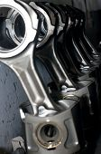 stock photo of piston-rod  - Piston rods from a truck - JPG