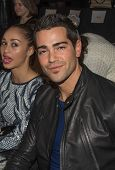 NEW YORK-FEB 8: Actor Jesse Metcalfe attends the Herve Leger by Max Azria fashion show during Merced