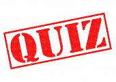 stock photo of quiz  - QUIZ red Rubber Stamp over a white background - JPG