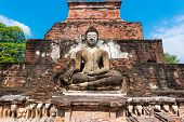 image of budha  - Sitting Budha in Wat Mahathat - JPG