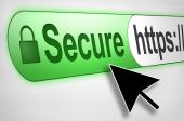 picture of ebusiness  - Cursor pointing to secure web browser connection - JPG