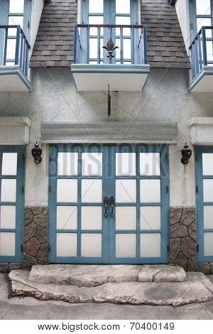 The Vintage Door Of House.