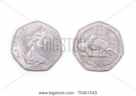 Isle of Man fifty Pence coin - TT - 1983