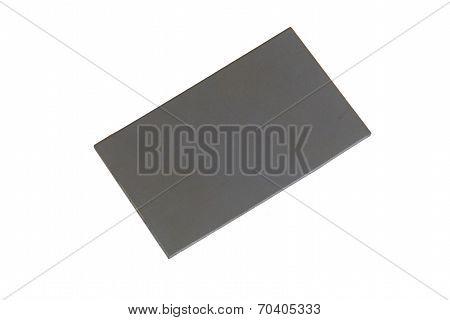 Grey Card On White