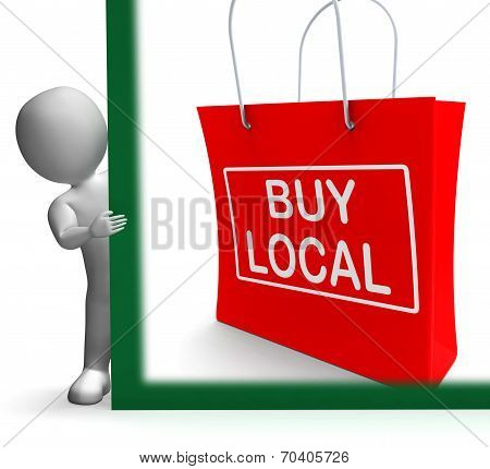 Buy Local Shopping Bag Shows Buy Nearby Trade