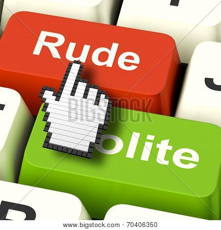 Rude Impolite Computer Means Insolence Bad Manners