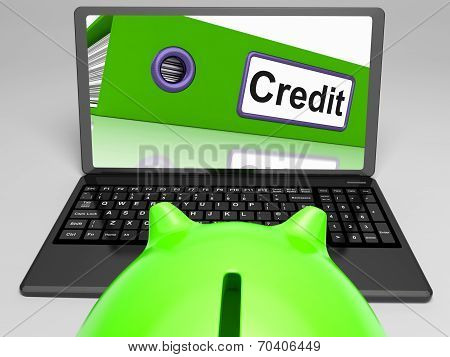 Credit Laptop Means Online Lending Or Repayments