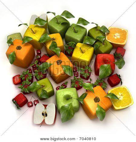 Fresh Cubic Fruits