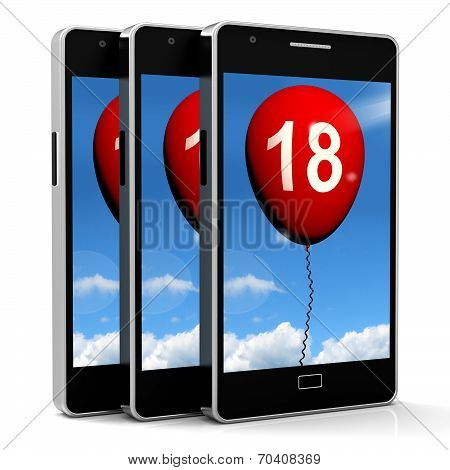 Balloon Phone Represents Eighteenth Happy Birthday Celebration