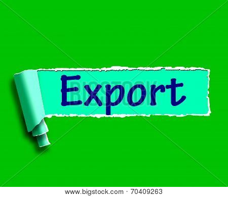 Export Word Shows Selling Overseas Through Internet