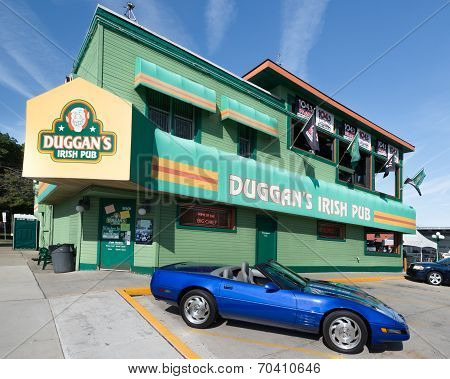 1992 Corvette At Duggan's Irish Pub, Woodward Dream Cruise