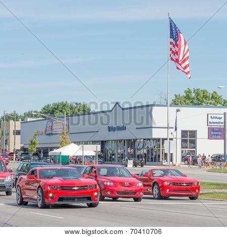 Camaros And Mazda At The Woodward Dream Cruise