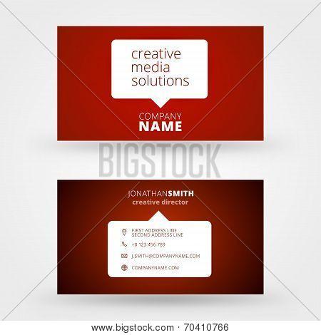 Creative Business Card Vector Design Print Template
