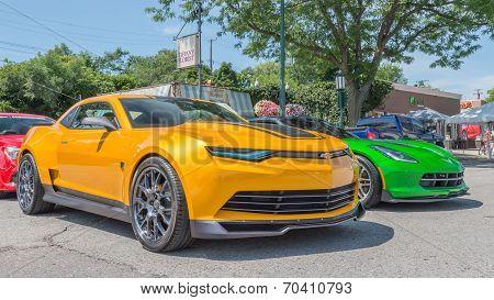 Transformer Camaro And Corvette, Woodward Dream Cruise