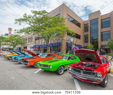 Javelin/AMX Cars At The Woodward Dream Cruise