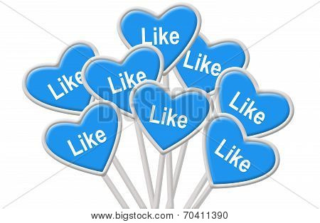Signs With Admiration - Concept For Social Networking