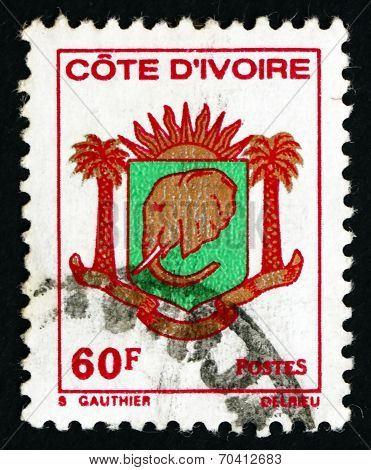 Postage Stamp Ivory Coast 1976 Coat Of Arms