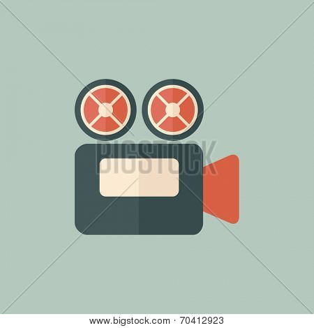 Flat Movie Icon