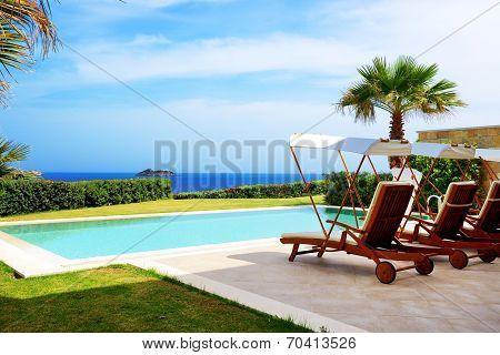 The Swimming Pool At Luxury Villa, Bodrum, Turkey