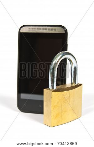 Cell Phone And Padlock