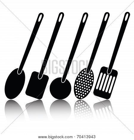 Kitchen Utensil Silhouettes