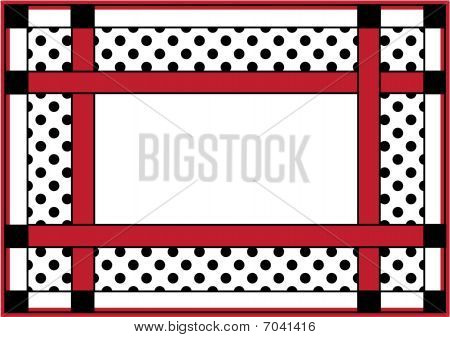 Black Red Polka Dots Frame