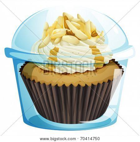 Illustration of a caramel cupcake