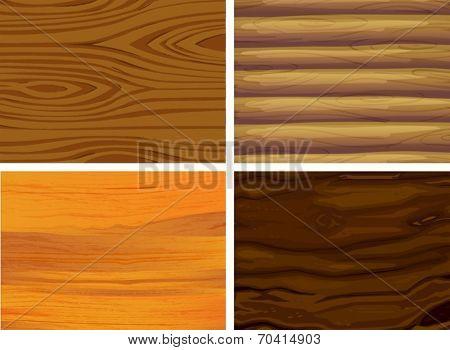 Illustration of wood patterns