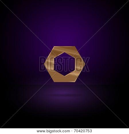 Gold metal symbol