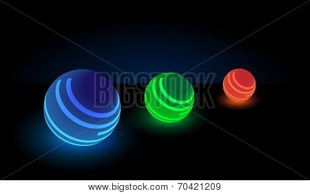 Luminous balls