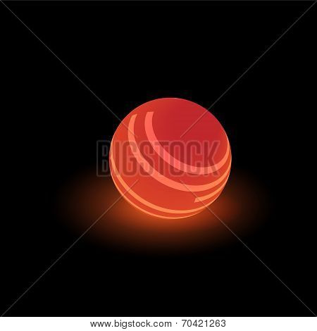 Red luminous ball