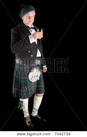 Scottish Toast With Whisky