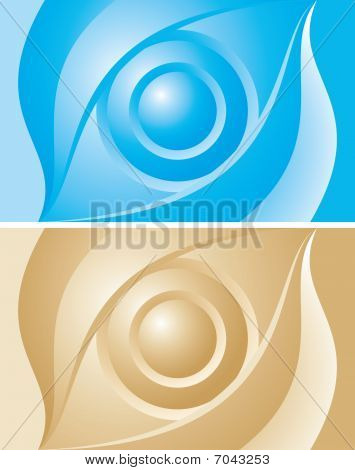 Background gold and blue eye