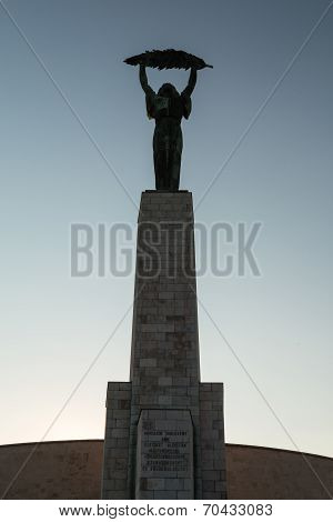Liberty Statue in Budapest Hungary