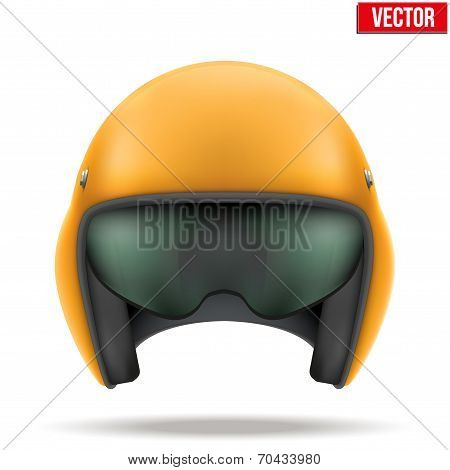 Aaircraft marshall helmet. Vector.