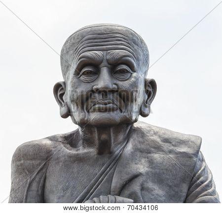 Monk Image On White Background