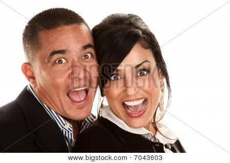 Hispanic Couple Laughing