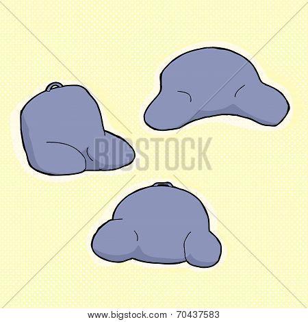 Blue Back Rest Pillows