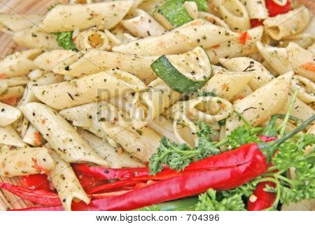 Penne With Courgettes