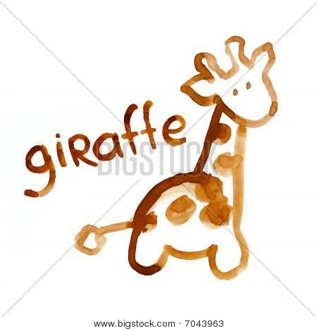 Giraffe Figure Adapted For The Child's Perception
