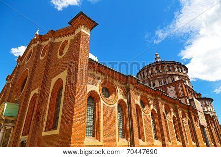 Church of Santa Maria delle Grazie in Milan Italy.