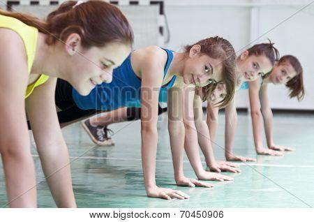 Teens In Gymnasium