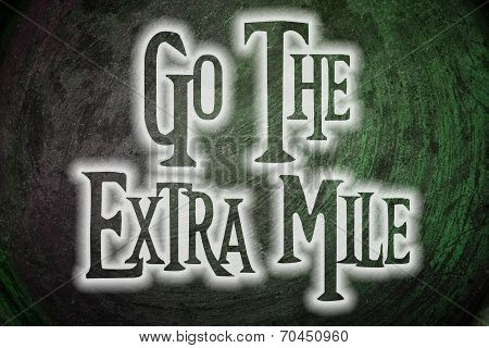 Go The Extra Mile Concept