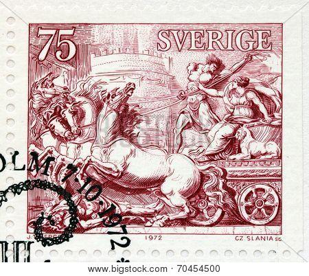 Quadriga Stamp