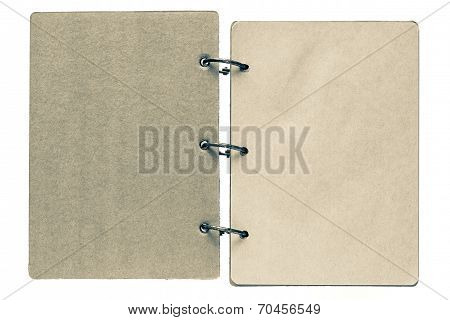 Isolated Notebook With Pages Dirty Beige Color